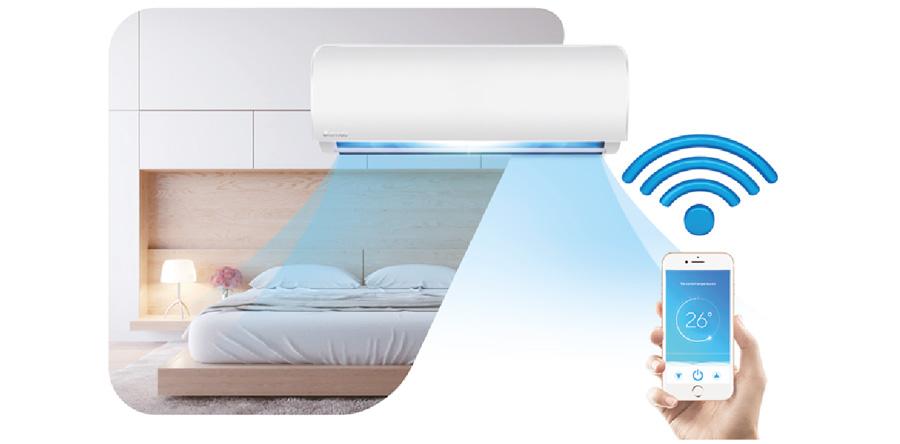 Инверторен стенен климатик Treo CS-I09CB3 с възможност за WiFi управление